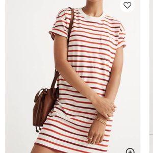 Madewell Pocket Tee Dress in Pablo Stripe XS